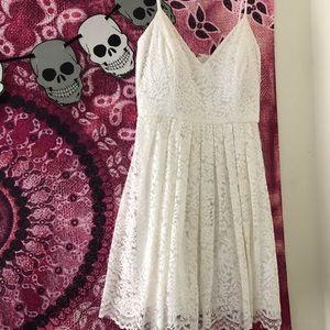 white lace dress 🤍